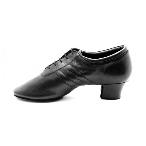 PORTDANCE Herren Lateinschuhe PD008 Premium Black Leather