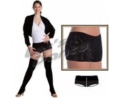 BODY WRAPPERS Dance 607 Hot Pants rot/schwarz