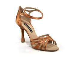 DANCE NATURALS Damen Lateinsandalette 201 brown Satin...
