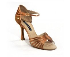 DANCE NATURALS Damen Lateinsandalette 203 brown Satin...