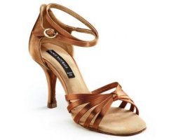 DANCE NATURALS Damen Lateinsandalette 27 DIVA Brown Satin