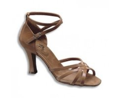 DANCE NATURALS Damen Lateinsandalette 2X tan Leder