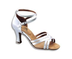 DANCE NATURALS Damen Lateinsandalette 3 Latin weiß Satin