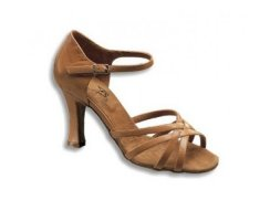 DANCE NATURALS Damen Lateinsandalette  5 tan Leder