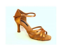 DANCE NATURALS Damen Lateinsandalette 5 tan Satin
