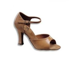 DANCE NATURALS Damen Lateinschuhe Art. 6 tan Leder Gr.34