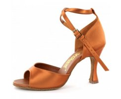DANSPORT Damen Tanzschuhe L3002 tan Satin