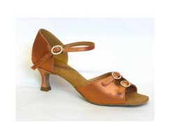 DANSPORT Damen Tanzschuhe S4014 tan Satin