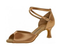 DIAMANT 017-077-087 Damen Lateinschuh tan Satin 5cm Flare...