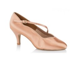 FREED Damen Standardschuh Kylie tan Satin und black...