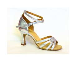 INTERNATIONAL Damen Lateinschuhe Melissa Silber Leder