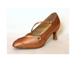 LsD Collection Damen Standardschuh Elina tan Satin