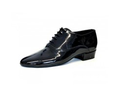 LsD Collection Herren Standardschuhe Charles schwarz Lack