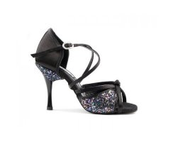 PORTDANCE 801 Black Satin ProPremium Lateinsandalette 3