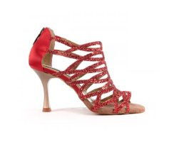 PORTDANCE Sandalette PD803 Red Glitter
