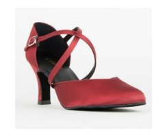 SO DANCA 156 Damentanzschuh Satin weinrot
