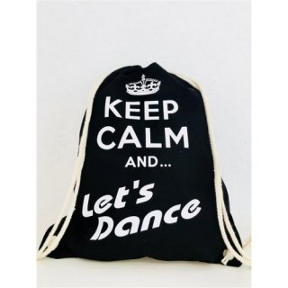 Lets Dance Stoffrucksack/-tasche Keep Calm and Lets Dance (mit Krone)